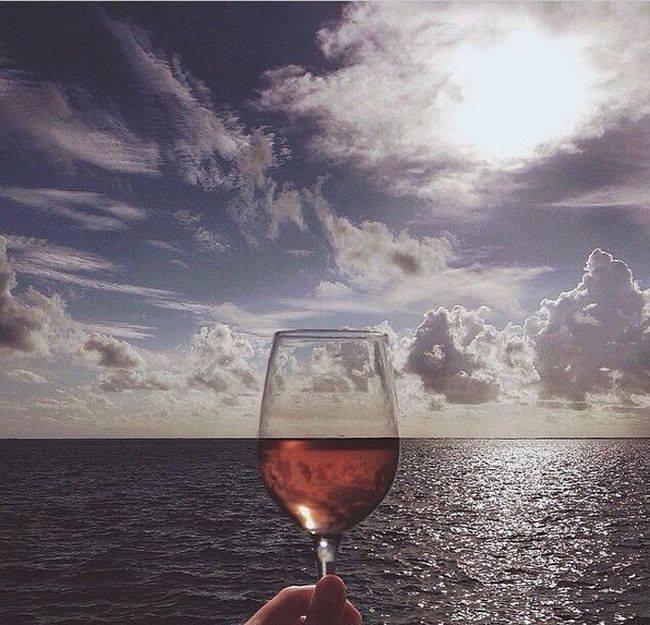sea wine glass