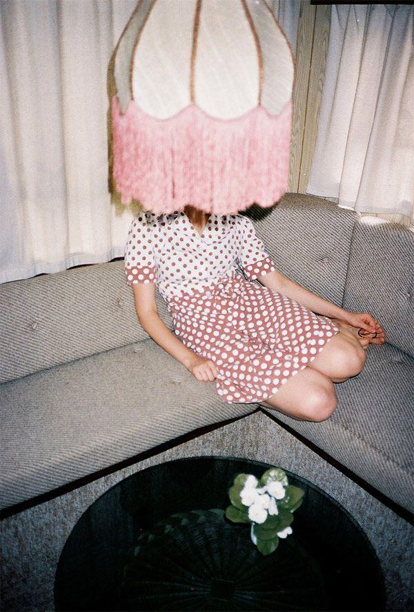 pink lamp girl