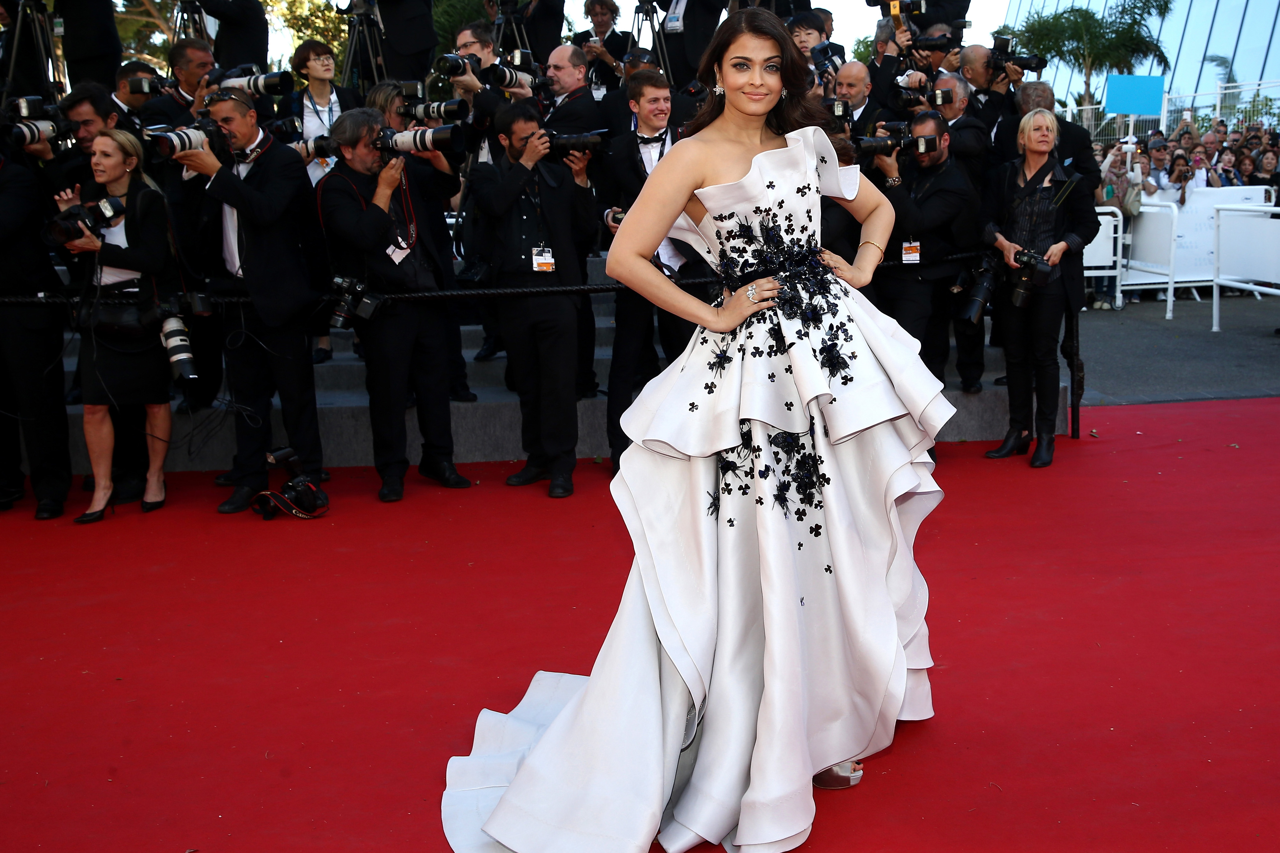 """CANNES, FRANCE - MAY 20: Aishwarya Rai Bachchan attends the Premiere of """"Youth"""" during the 68th annual Cannes Film Festival on May 20, 2015 in Cannes, France. (Photo by Andreas Rentz/Getty Images)"""