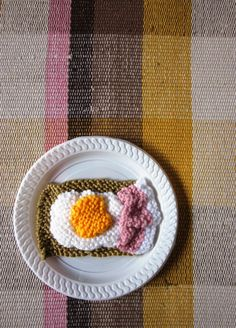 knitted bacon and eggs