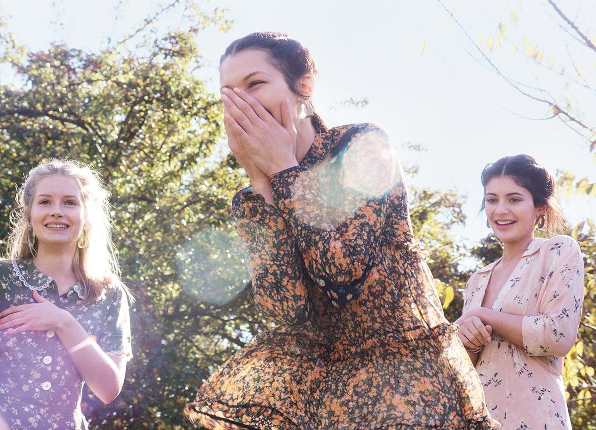 Kylie Jenner, Bella Hadid, & Lottie Moss by Gordon von Steiner for Vogue January 2016 3