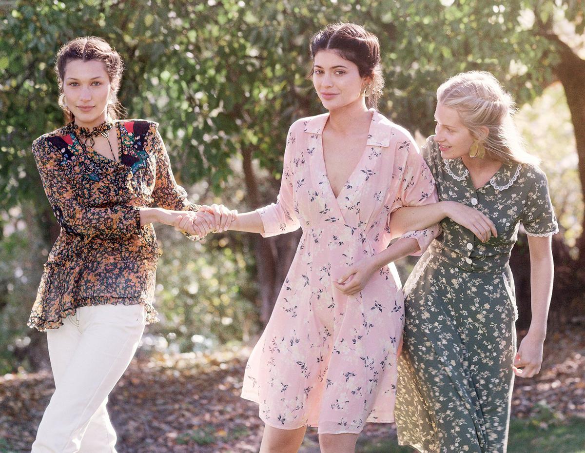Kylie Jenner, Bella Hadid, & Lottie Moss by Gordon von Steiner for Vogue January 2016 4