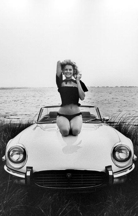 vintage car girl